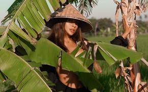 Picture leaves, girl, hat, Svetlana Shamanina, Ксения Мио