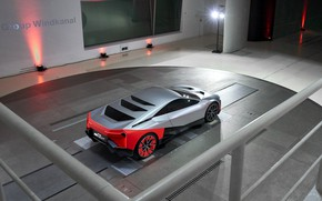 Picture coupe, BMW, wind tunnel, 2019, Vision M NEXT Concept