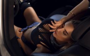 Picture pose, shorts, Girl, Alex Bazilev