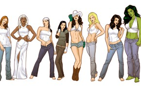 Picture girls, comics, characters