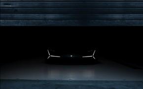 Picture darkness, Lamborghini, front view, 2017, The Third Millennium Concept