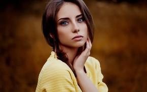 Picture girl, photo, photographer, blue eyes, model, brunette, Natasha, portrait, depth of field, Ann Nevreva