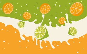 Wallpaper background, orange, texture, lime