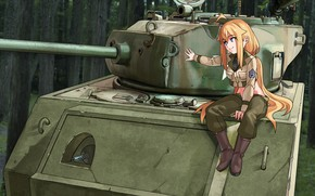 Picture Army, Girl, Tank