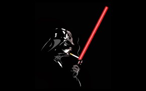 Picture Star Wars, Darth Vader, Cigarette, Laser Sword
