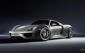 Picture rendering, Porsche, supercar, Spyder, 918