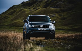 Picture Volkswagen, pickup, Amarok, Black Edition, 2019, before