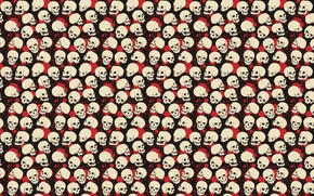Picture white, red, pose, black, blood, paint, skull, spot, red, white, black, poses