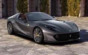 Picture machine, house, lights, Ferrari, sports car, GTS, 812