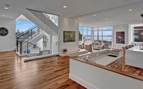 Picture Villa, interior, kitchen, ladder, living room, Isola Homes