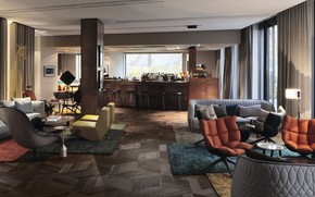 Picture interior, club, bar, Berlin, area, Das Stue Hotel, by Patricia Urquiol Interior