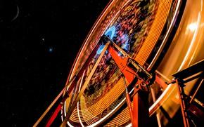 Picture the sky, stars, Ferris wheel
