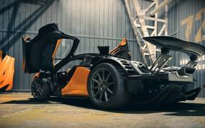 Picture hangar, hypercar, McLaren P1