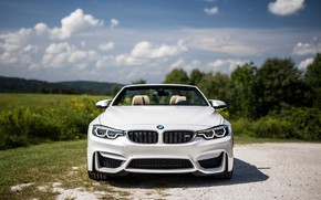 Picture BMW, White, Convertible, Face, F82