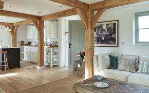 Picture sofa, interior, kitchen, living room