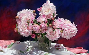 Picture flowers, bouquet, still life, peonies