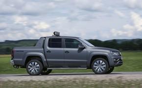 Picture Volkswagen, side view, pickup, Amarok, Double Cab, 2016, Aventura