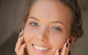 Picture girl, smile, beautiful, model, pretty, face, brunette, attractive, handsome, nose, mouth, clear eyes, katya clover