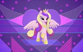 Picture abstraction, background, pony, My Little Pony