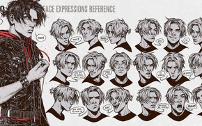 Picture emotions, face, guy