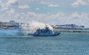 Picture frigate, Parade, Sevastopol, launches, Admiral Makarov, RBU-6000