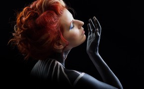 Picture color, girl, face, style, paint, body, makeup