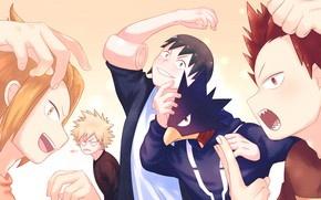 Picture art, guys, characters, My Hero Academia, Boku No Hero Academy, My Hero Academy