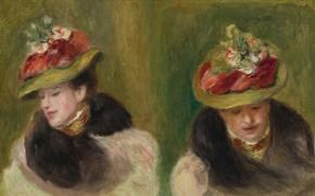 Picture picture, Pierre Auguste Renoir, Pierre Auguste Renoir, Double Portrait Of Jeanne Baudot