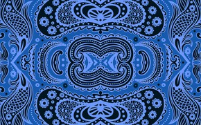 Picture blue, background, pattern, a remake, hellena