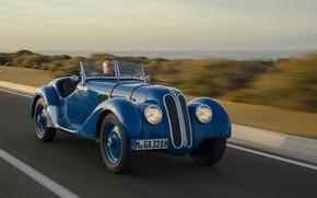 Picture BMW, Blue, Vintage, Road, 328