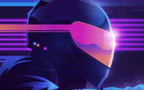 Picture Music, Style, Helmet, Background, 80s, Style, Neon, Illustration, Biker, 80's, Synth, Retrowave, Synthwave, New Retro …