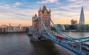 Picture bridge, river, London, london, tower bridge