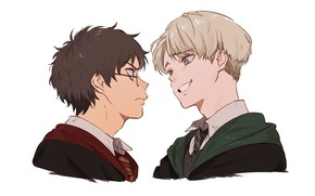 Picture movie, art, Harry Potter, Draco Malfoy