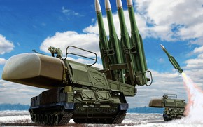 Picture Defense, SAM, Beech, anti-aircraft missile system, SA-11 Gadfly, 9K37