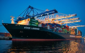 Picture Port, Board, The ship, Port, Vessel, Evergreen, Cargo operations, Evergreen Marine Corporation, David Dibert, Evergreen …