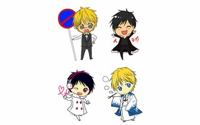 Picture children, guys, kids, boys, Durarara, Durarara, Shizuo Heiwajima, Of Izaya Orihara, The headless horseman