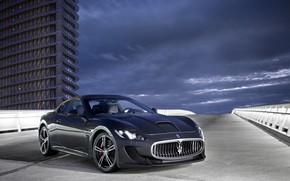 Picture road, Maserati, the building, GranTurismo