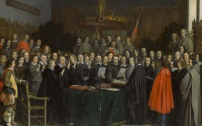 Picture oil, picture, 1648, Gerard Ter Borch, Gerard ter Borch, The Inauguration Of The Peace Of …
