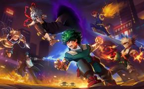 Picture game, anime, battle, hero, asian, manga, asiatic, japonese, unifiorm, boku no hero academia, my hero …