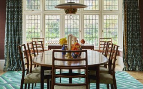 Picture room, interior, light, decoration, dining room, Arts Crafts house