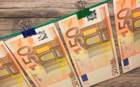 Picture money, Euro, currency, banknotes