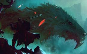 Picture Dragon, Monster, Armor, Sword, Warrior, Face, Fantasy, Dragon, Art, Fiction, Dark Souls, Sword, Dark Souls …