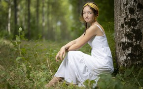 Picture summer, girl, nature