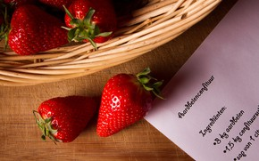 Picture berries, leaf, strawberry, entry, recipe