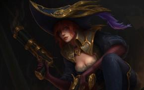Picture Girl, Gun, Girl, Hat, Art, Fiction, Guns, LoL, League Of Legends, Miss Fortune, Pirate, Miss …