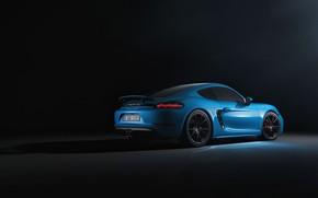 Picture Blue, Porsche, Machine, Cayman, Blue, Car, Rendering, Transport & Vehicles, Sergey Poltavskiy, by Sergey Poltavskiy, …