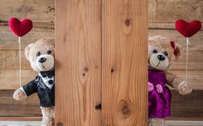 Wallpaper love, toy, heart, bear, hearts, red, love, bear, heart, wood, romantic, teddy, valentine's day, gift, ...