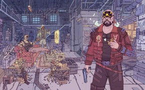 Picture Robot, Gun, Weapons, Fur, Fantasy, Gun, Art, Art, Robot, Fiction, Cyborg, Guns, Weapon, The bandits, …