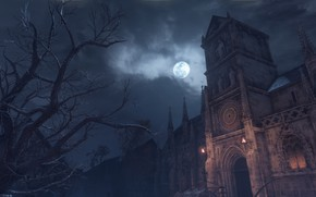 Picture night, tree, the moon, University, a plague tale: innocence