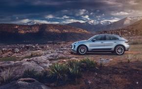 Picture mountains, stones, transport, Porsche, car